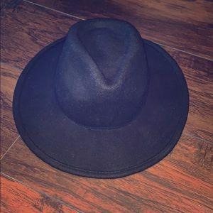 edition express black 100% wool fedora hat